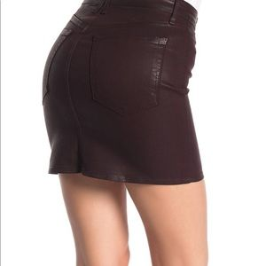 Good American Skirts - Good American waxed denim mini skirt